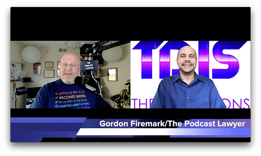 """Gordon Firemark the """"Podcast Lawyer"""" on The DJ Sessions presents the Virtual Sessions 1/06/21"""